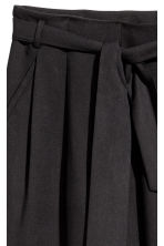 Tie-belt trousers - Black - Ladies | H&M 3